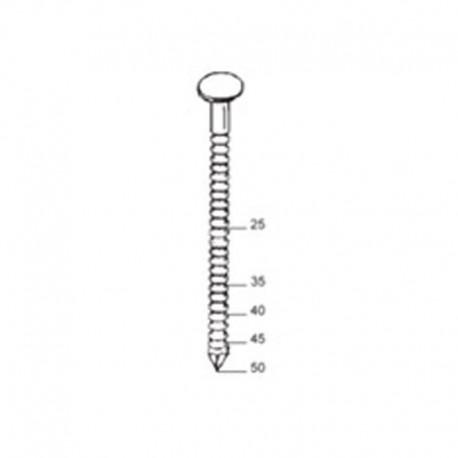 Haubold Schiefernägel / Haftennägel Type RNC-S25/35 Rille EDELSTAHL 3000 Stück