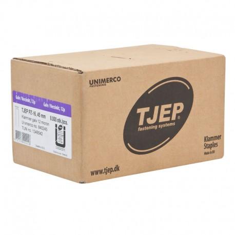 TJEP PZ-16 Klammern 45 mm, geharzt 9500 Stück