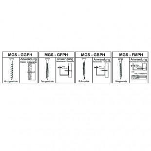 Prebena Magazinierte Schrauben Type MGS4/25GFPH 10000 Stück
