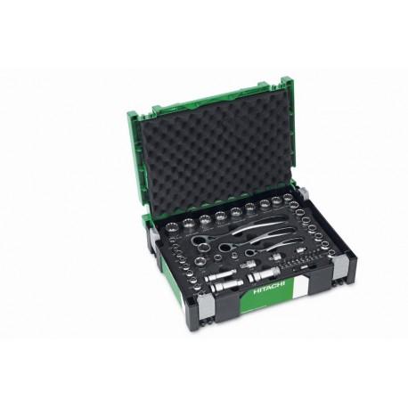 HITACHI Professional Hohl-Steckschlüsselsatz 49 tlg. im Systainer, Knarrenkasten