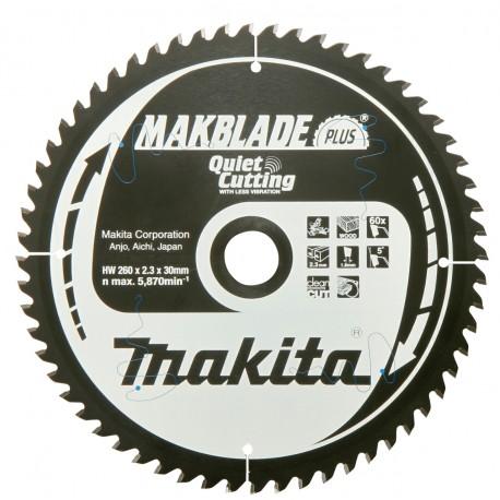 MAKBLADE+ Sägeblatt  260x30x48Z Makita
