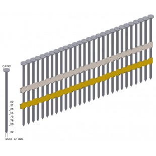 Prebena Streifennägel 20° 3,1 x 65 mm verzinkt 2200 Stück