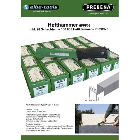 Hefthammer HFPF09 mit 100 000 Klammern PF09CNK