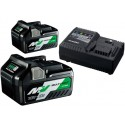 HiKOKI Booster Pack ( 2 x Multi Volt Akku + 1 Ladegerät )