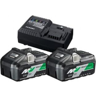 HiKOKI Booster Pack ( 2 x Multi Volt Akku + 1 Ladegerät ) 4 Ah / 8 Ah