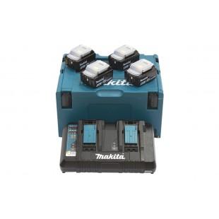MAKITA Power Source KIT mit 4x Akku 6,0 Ah und DC18RD