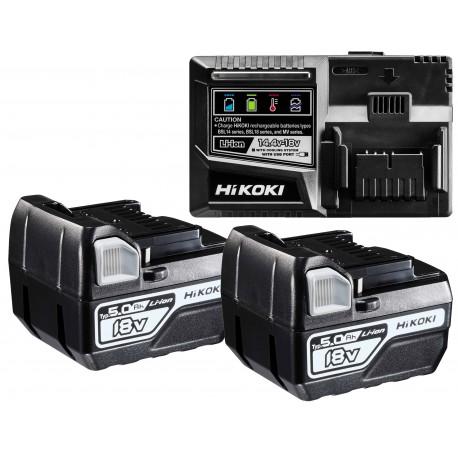 HiKOKI Booster Pack 2x BSL1850C + UC18YFSL