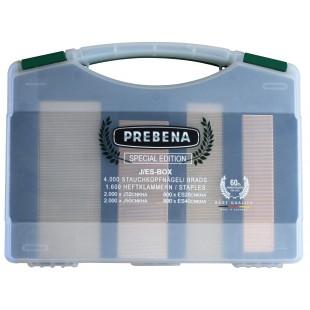 PREBENA J/ES BOX HEFTKLAMMERN NÄGEL SPECIAL EDITION Brads